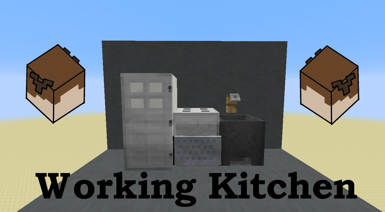 kitchen sink minecraft working kitchen in minecraft oven stove fridge and 2787