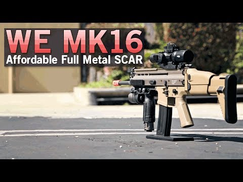 WE MK16 SCAR - Affordable Full Metal AEG with Spring Decompression  | Airsoft GI