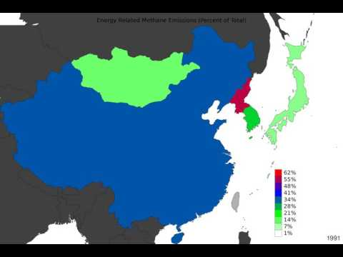 East Asia - Energy Related Methane Emissions - Time Lapse