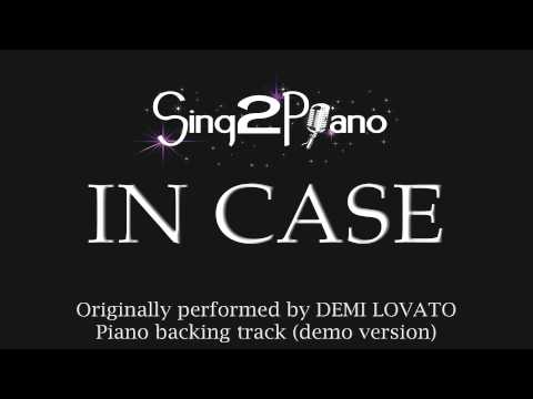 In Case - Demi Lovato (Karaoke Backing Track)
