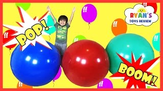 GIANT BALLOON POP SURPRISE TOYS CHALLENGE Disney Cars Toys Thomas & Friends Trains Marvel Superhero