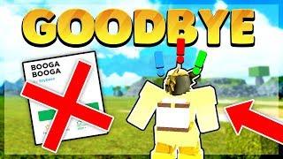 The End of Booga Booga.. Goodbye (Roblox)