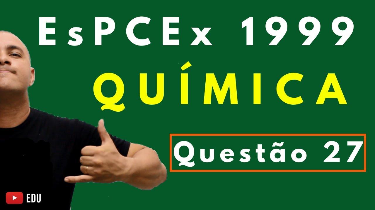 [Questão Comentada] - EsPCEx 1999 - Tema: GÁS FORA DA CNTP/EQUAÇÃO DE CLAPEYRON
