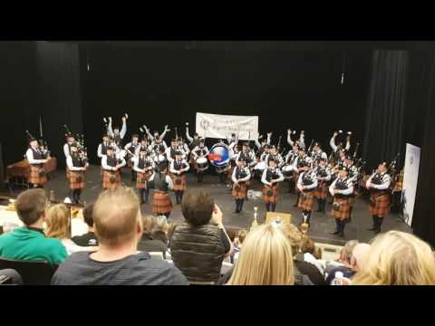 Simon Fraser University Pipe Band medly at BC Pipers competition April 2017
