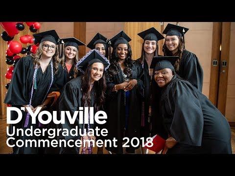 D'Youville Undergraduate Commencement 2018