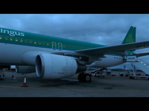 **Inaugural Flight** Aer Lingus A320 Liverpool - Dublin Including Water Salute, Boarding and Takeoff