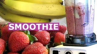 Ice Cream Smoothie - How To Make Strawberry Banana Smoothie A Healthy Milk Shake Drink Quick Recipe Jazevox HomeyCircle