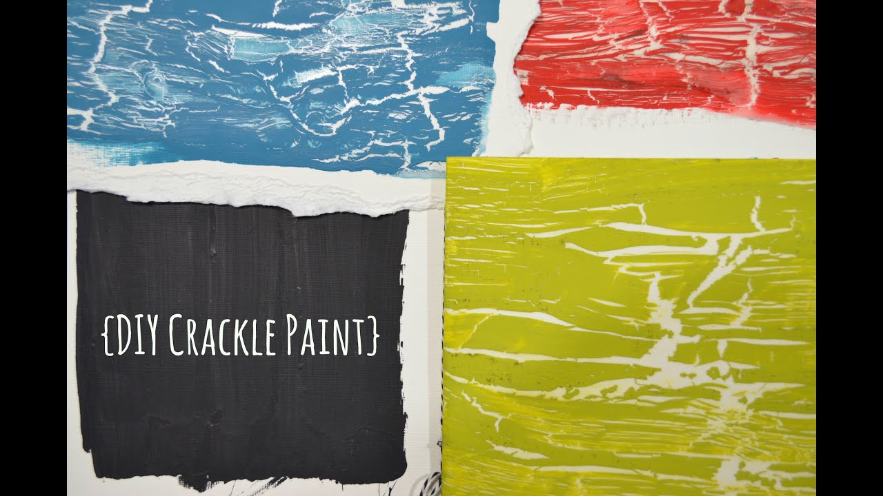diy crackle paint youtube