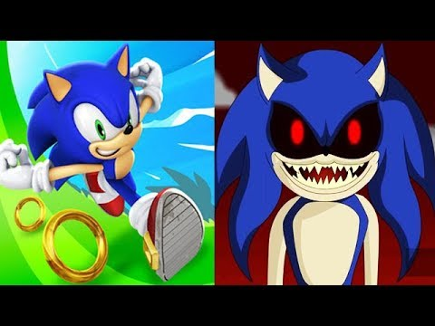 Sonic Dash Vs Sonic Exe Evil Sonic Youtube