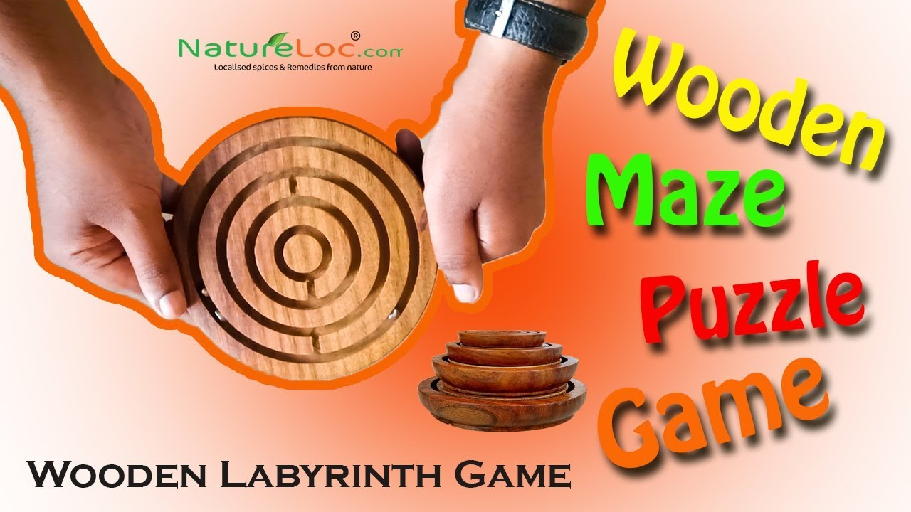 Wooden Labyrinth ,Maze Puzzle Game -Natureloc.com