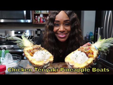 Chicken Teriyaki Pineapple Bowls with Coconut Grain