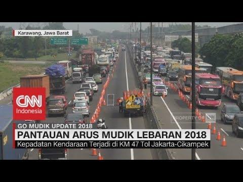 Ruas Tol Jakarta - Cikampek Padat, Terus Alami Peningkatan - Go Mudik 2018 | 16.00