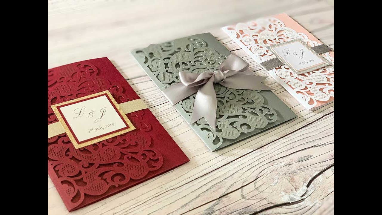 How To Make Wedding Invitations 3 Different Ideas Youtube