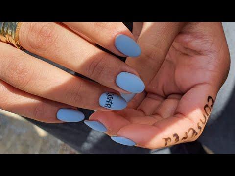 Покрытие ногтей гель лаком/гель лак на ногтях/выравнивание базой