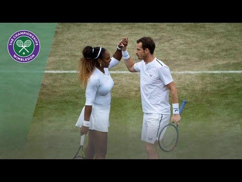 Andy Murray/Serena Williams vs Andreas Mies/Alexa Gurachi Wimbledon 2019 first round highlights