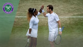 Andy Murray/Serena Williams vs Andreas Mies/Alexa Gurachi Wimbledon 2019 first round highlights