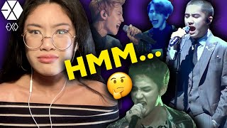 REACTING to EXO 엑소 LIVE VOCALS & HIGH NOTES for the FIRS…