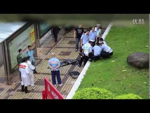 Police take down knife wielder in China