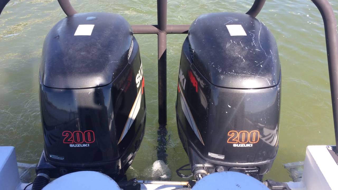 GovDeals: 200 HP Suzuki Outboard Motor #1 - YouTube