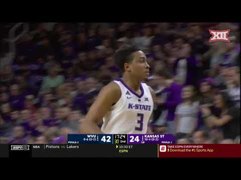 West Virginia vs Kansas State Men's Basketball Highlights