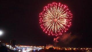 Салют 9 мая. Тюмень. День Победы. Фейерверк 2017 Набережная Тюмени