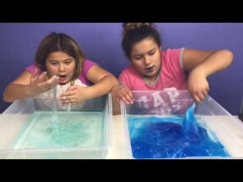 3 GALLONS OF CLEAR FISH BOWL SLIME VS 3 GALLONS OF CLEAR FISH BOWL SLIME - GIANT SLIMES