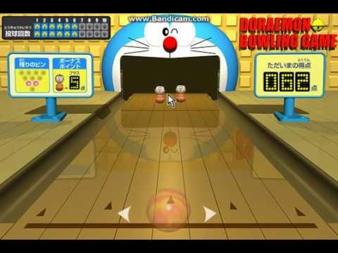Doraemon Bowling Game on y8.com