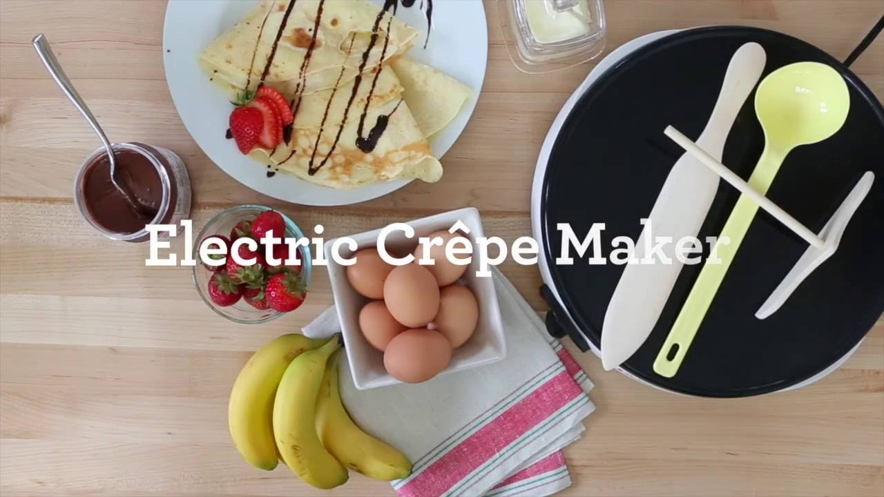Euro Cuisine CM20 Eco Friendly Crepe Maker - PTFE and PFOA Free Non Stick  Plates
