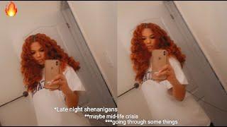 Dying Natural Dark Brown Hair Orange / Copper | NO BLEACH