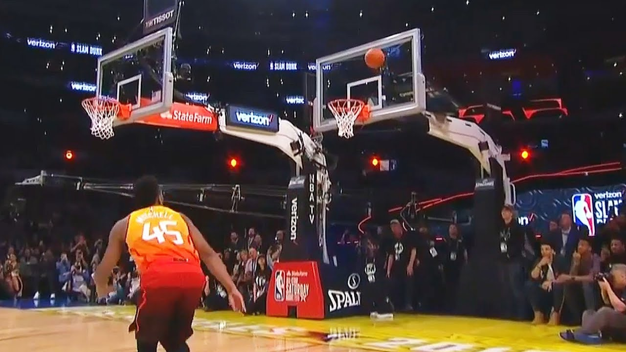 2018 Nba Slam Dunk Contest Best Dunks Donovan Mitchell Vs Larry Nance Jr