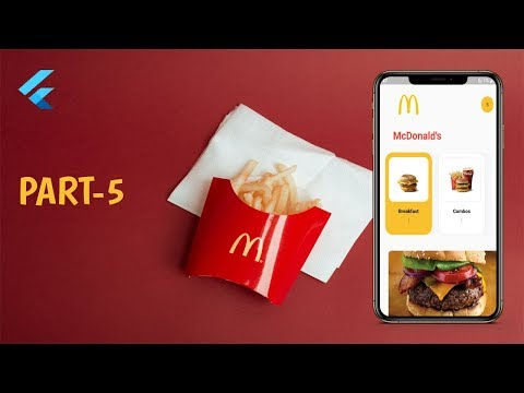Flutter: McDonald's Concept App UI (Part-5)