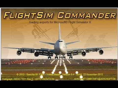 FlightSim Commander 9 + Route + FMC. FSX.