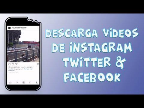 Cómo Descargar Videos de TWITTER | INSTAGRAM | FACEBOOK |  iPhone, iPad iPod | Sin PC