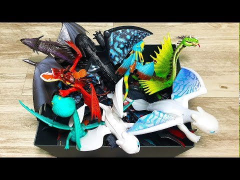 MY HUGE DRAGON TOYS COLLECTION - What Dragons Are In This Box? Toothless Stormfly Hookfang