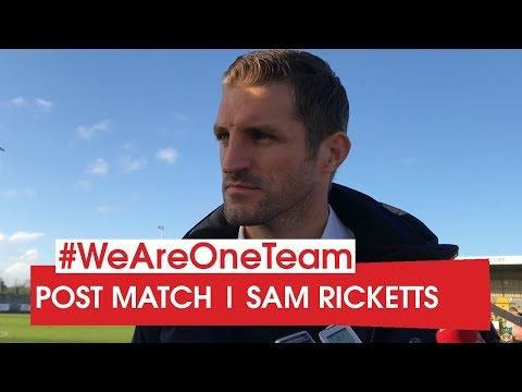 WATCH | FA Cup: Sam Ricketts after Weston-Super-Mare