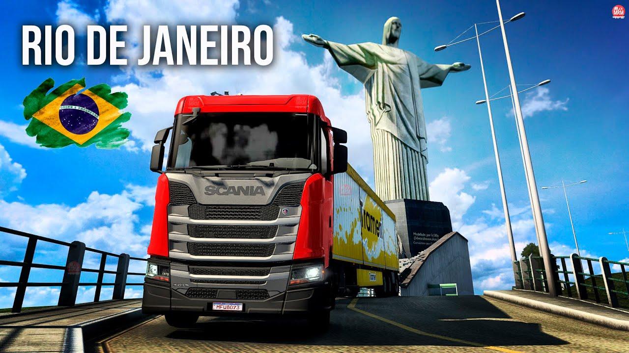SUBI NO CRISTO REDENTOR NO RIO DE JANEIRO DE CAMINHÃO -  Euro Truck Simulator 2 ( Com Volante G923)