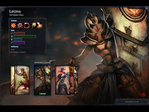 Defender Leona Skin Spotlight Gameplay 1080p HD
