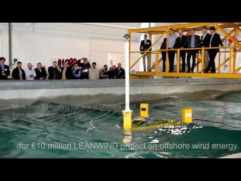 MaREI - Testing a floating Wind Turbine using the LIR at Leanwind event