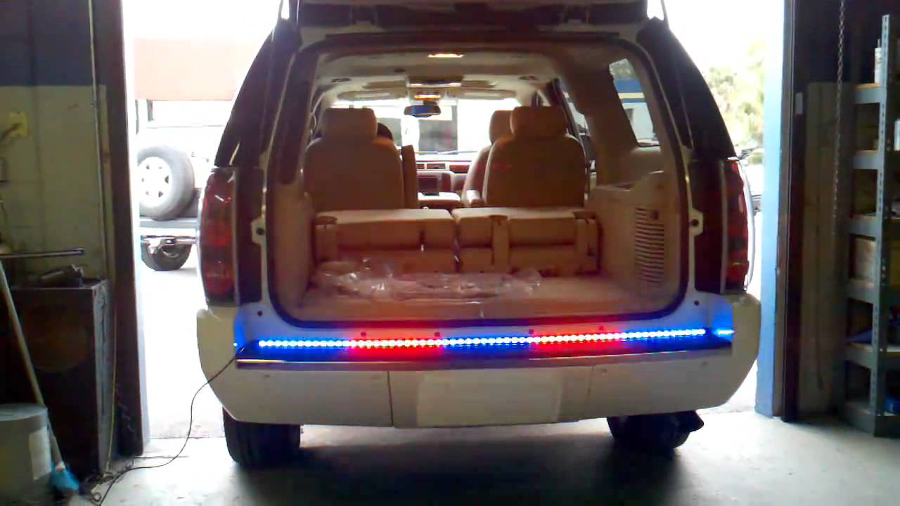 HG2 Emergency Lighting Chevy Tahoe Rear Tailgate Piece YouTube