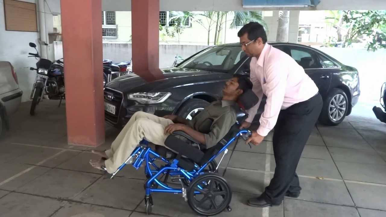 Reclining Tilt in space wheelchair Wheelchair  YouTube