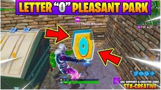 """Search the Letter """"O"""" West of Pleasant Park l Fortnite WEEK 4 Season 7 Challenge GUIDE Location"""