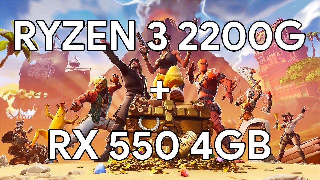 Ryzen 3 2200g Fortnite Season 9 Ryzen 3 2200g Rx550 4gb Fortnite Season 9 Competitive Settings Benchmark Youtube