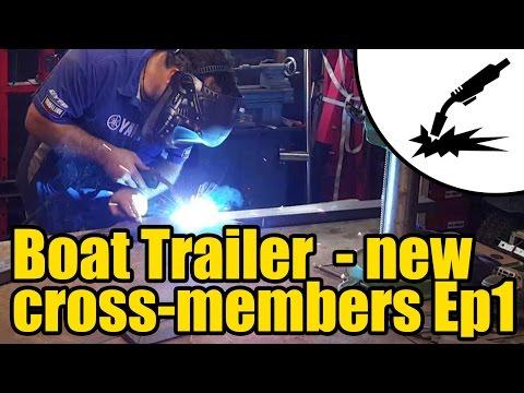 Boat trailer new cross members fabrication & weld in #2007