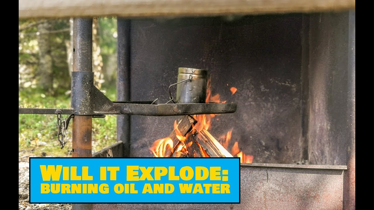 Camping Fail - Extinguishing Burning Oil With Water - Easy Outdoors Tests