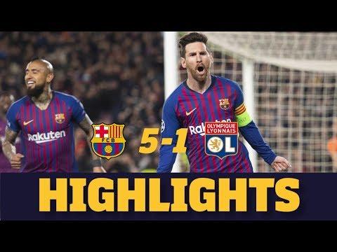 BARÇA 5-1 LYON | Match highlights