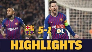 BARÇA 5-1 LYON | Match highlights