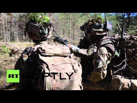 Latvia: British Gurkha riflemen show their fighting skills in NATO manoeuvres