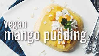VEGAN MANGO PUDDING | hot for food