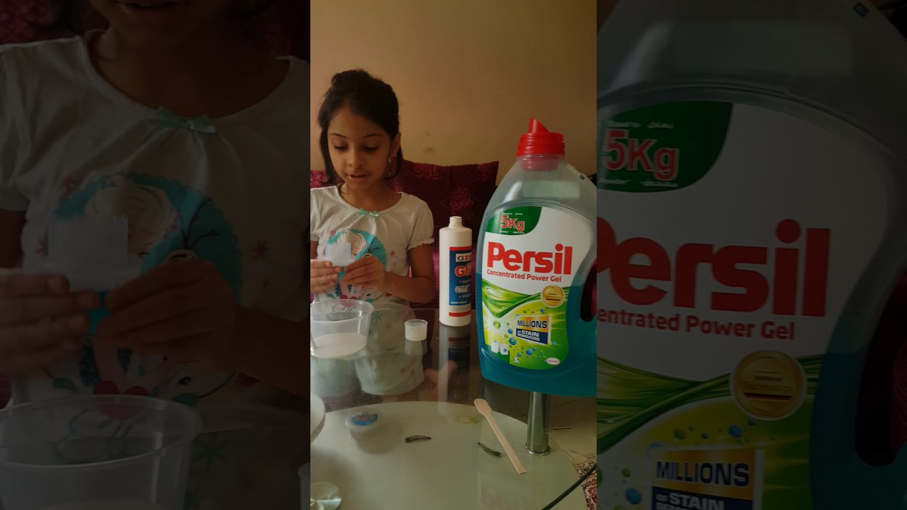 How To Make Slime With White Glue And Persil Gel