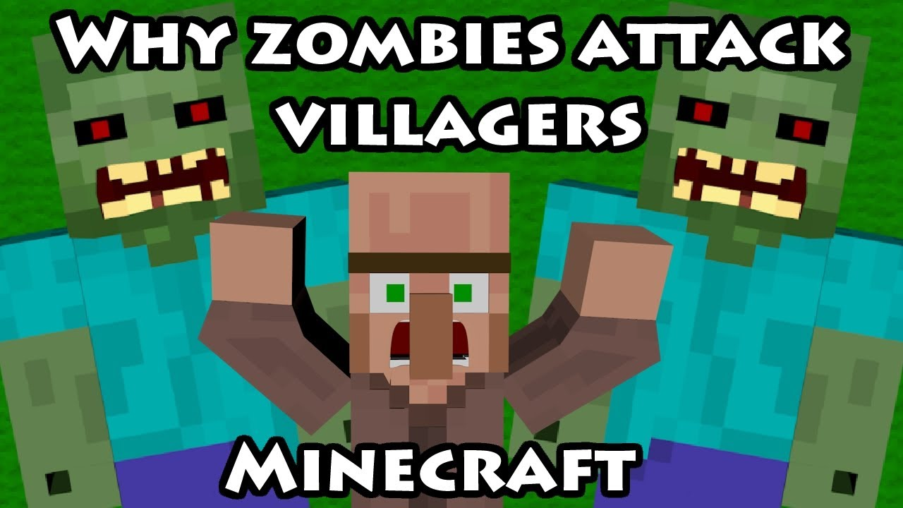 Why zombies attack villagers how it al begon zombie vs - Minecraft zombie vs creeper ...